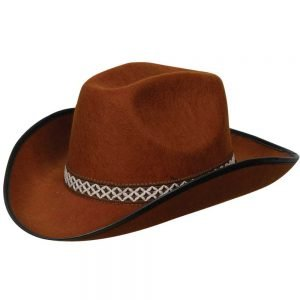 Brown Cowboy Hat w/decorative band