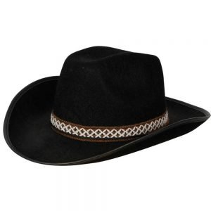 Black Cowboy Hat w/decorative band