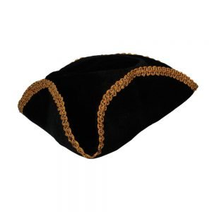 Pirate Hat w/ Gold Braid Trim