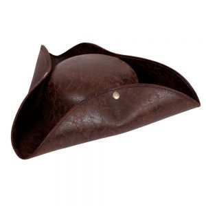 Deluxe Pirate Hat - Distressed Leather