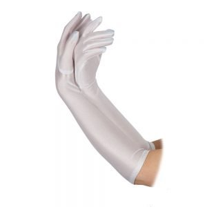 Ladies Long Gloves WHITE