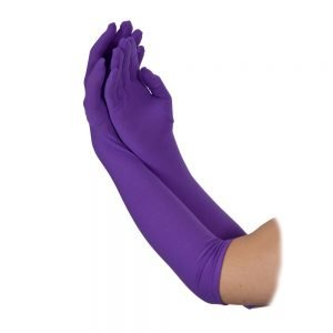 Ladies Long Gloves (43cm) PURPLE