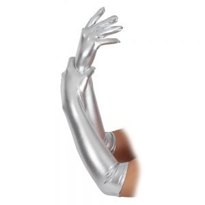 Adult Gloves Long Silver (44cm)