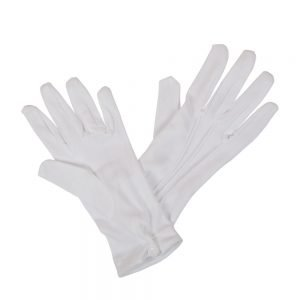 Gents White Gloves with Snap Wrist Closure