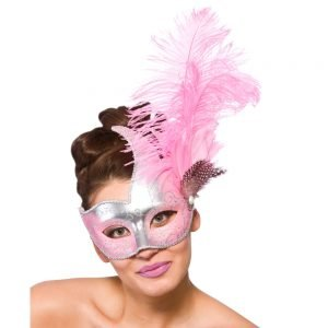 Revello Eye Mask - Silver & Pink