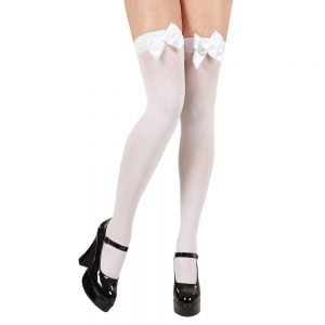 Thigh Highs with White Bow