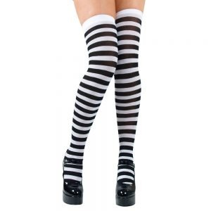 Thigh Highs & White Candystripe