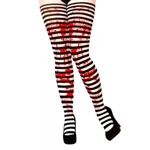 Tights - Candystripe with Blood