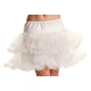 3 Layer Ruffle Petticoat / White