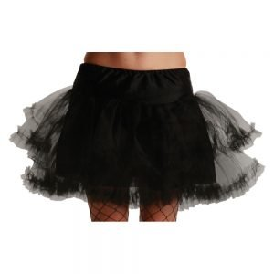 3 Layer Ruffle Petticoat / Black