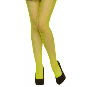 Tights - Fishnet / Neon Green